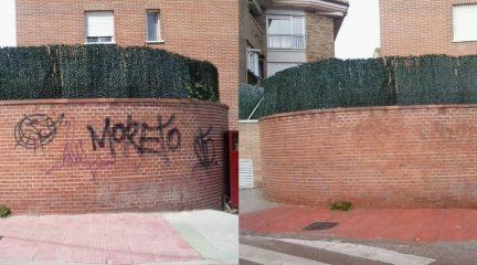 Nueva campaña para eliminar las pintadas en las fachadas y el mobiliario urbano de Galapagar, con una inversión de 15.000 euros