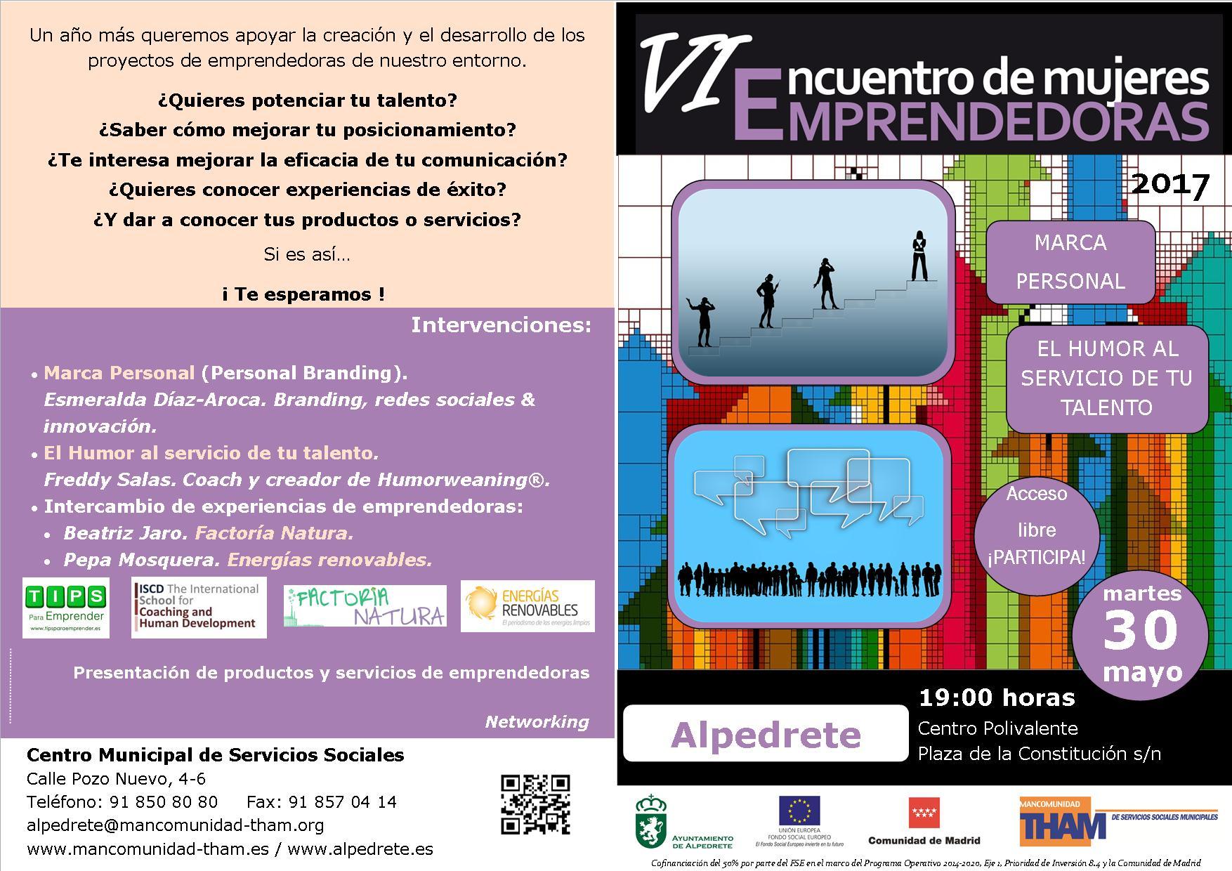 Cartel Mujeres Emprendedoras A5 en A4 - Alpedrete