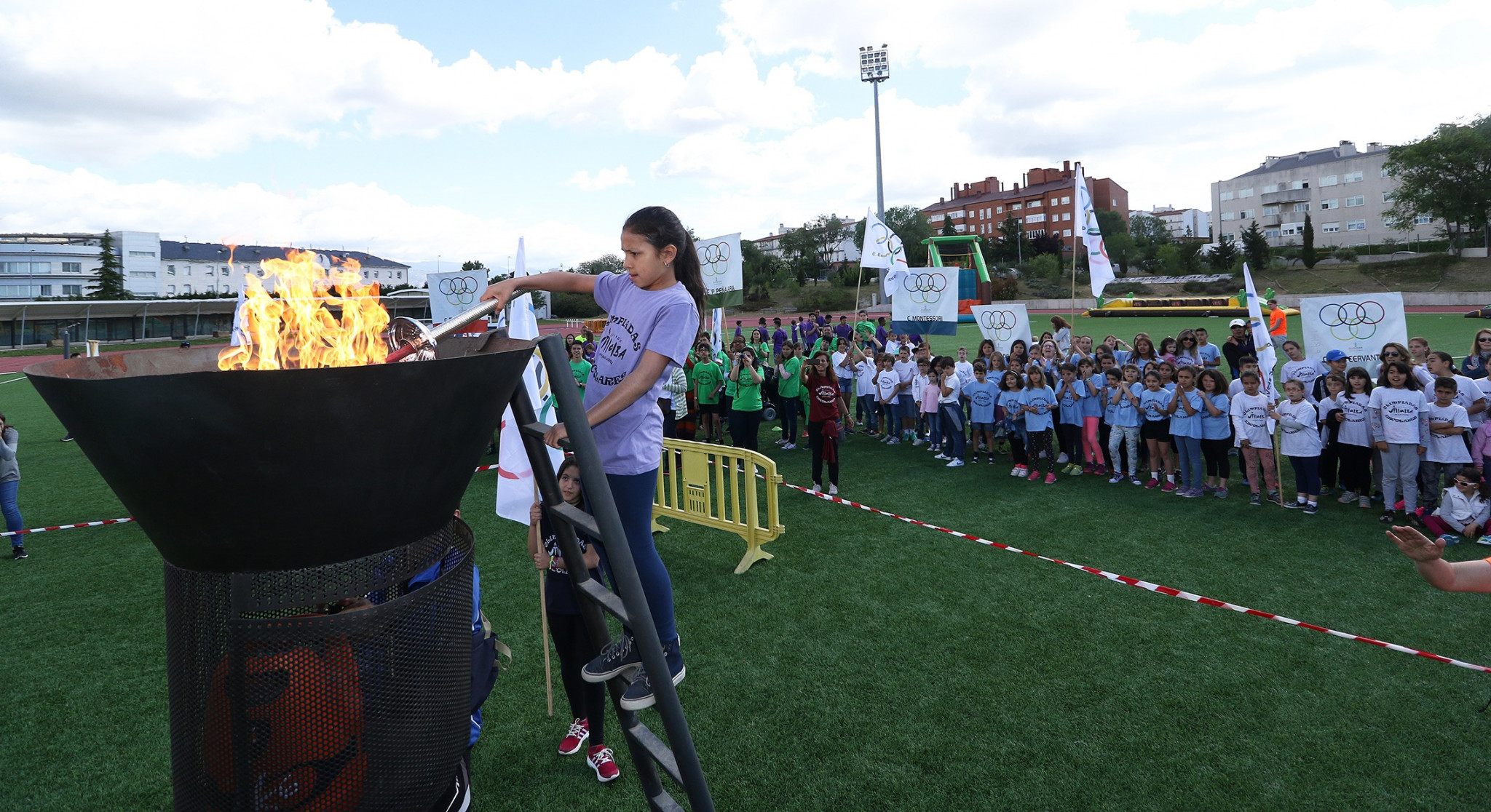 inauguracion olimpiadas escolares