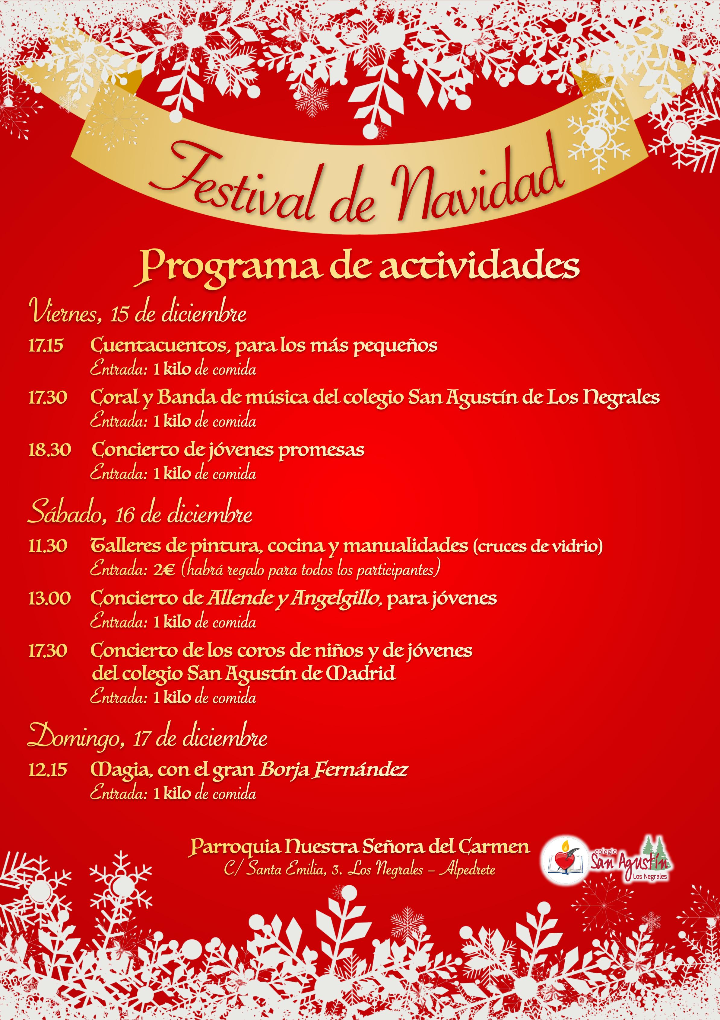 Programa Festival Navidad 2017
