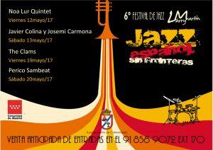 Cartel de una edición anterior del Festival de Jazz Larry Martin