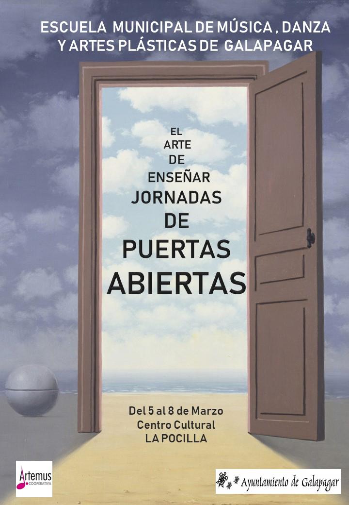 Cartel Puertas Abiertas EMMD marzo 2018