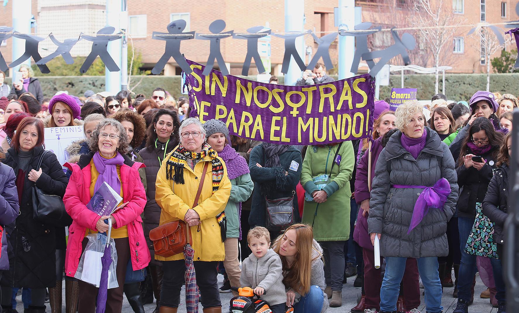huelga feminista 8 marzo villalba 1