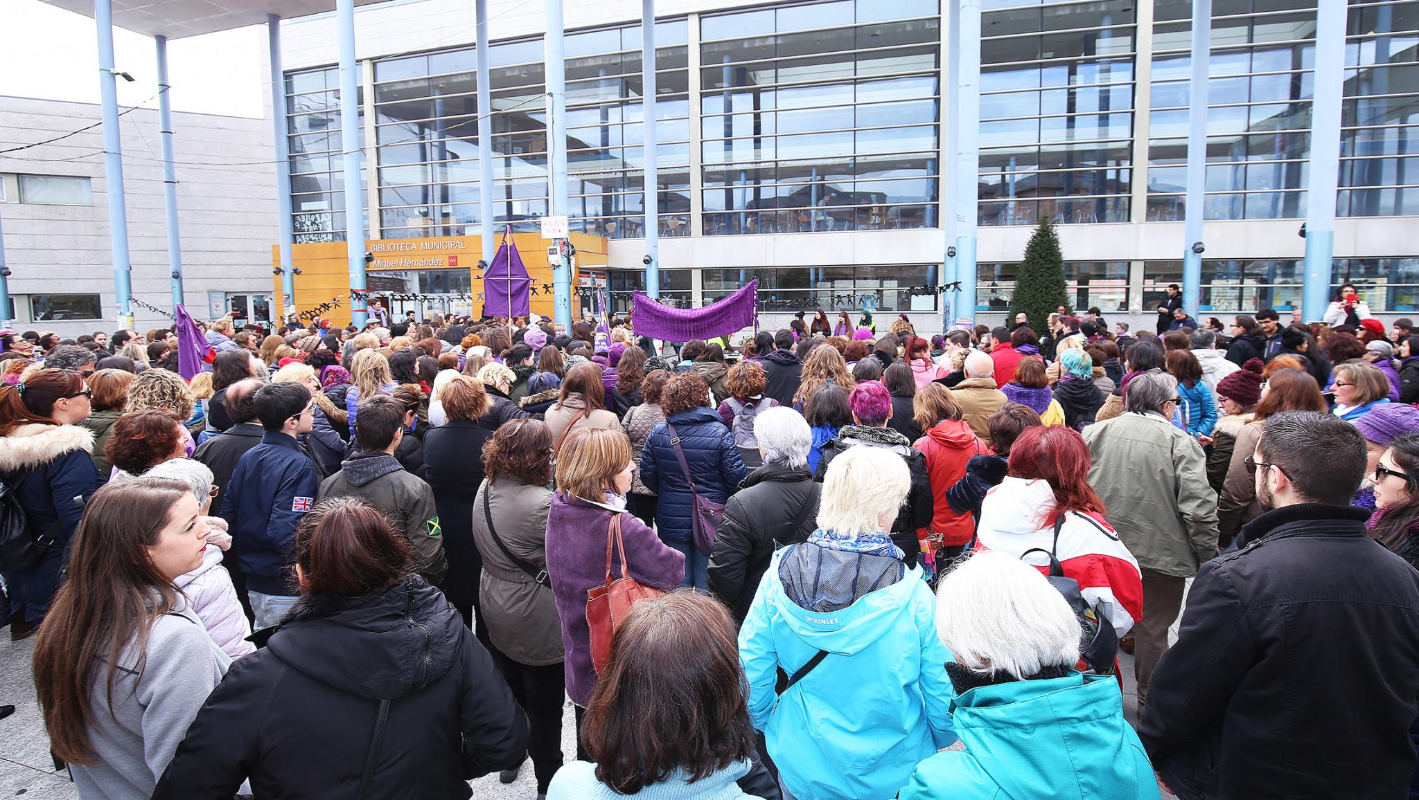 huelga feminista 8 marzo villalba 3