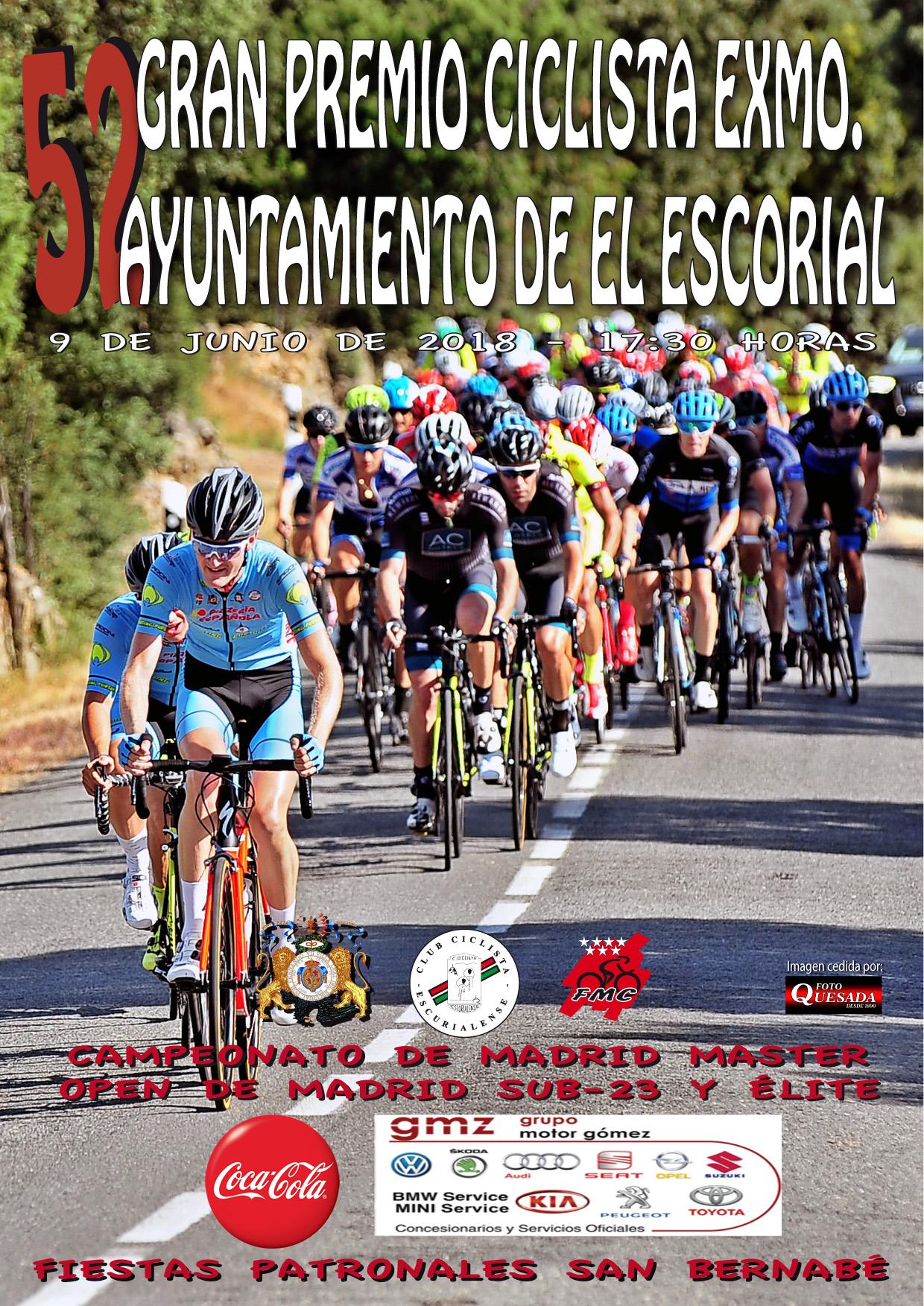 Cartel LII GP El Escorial-Ciclismo Máster 2018 villa