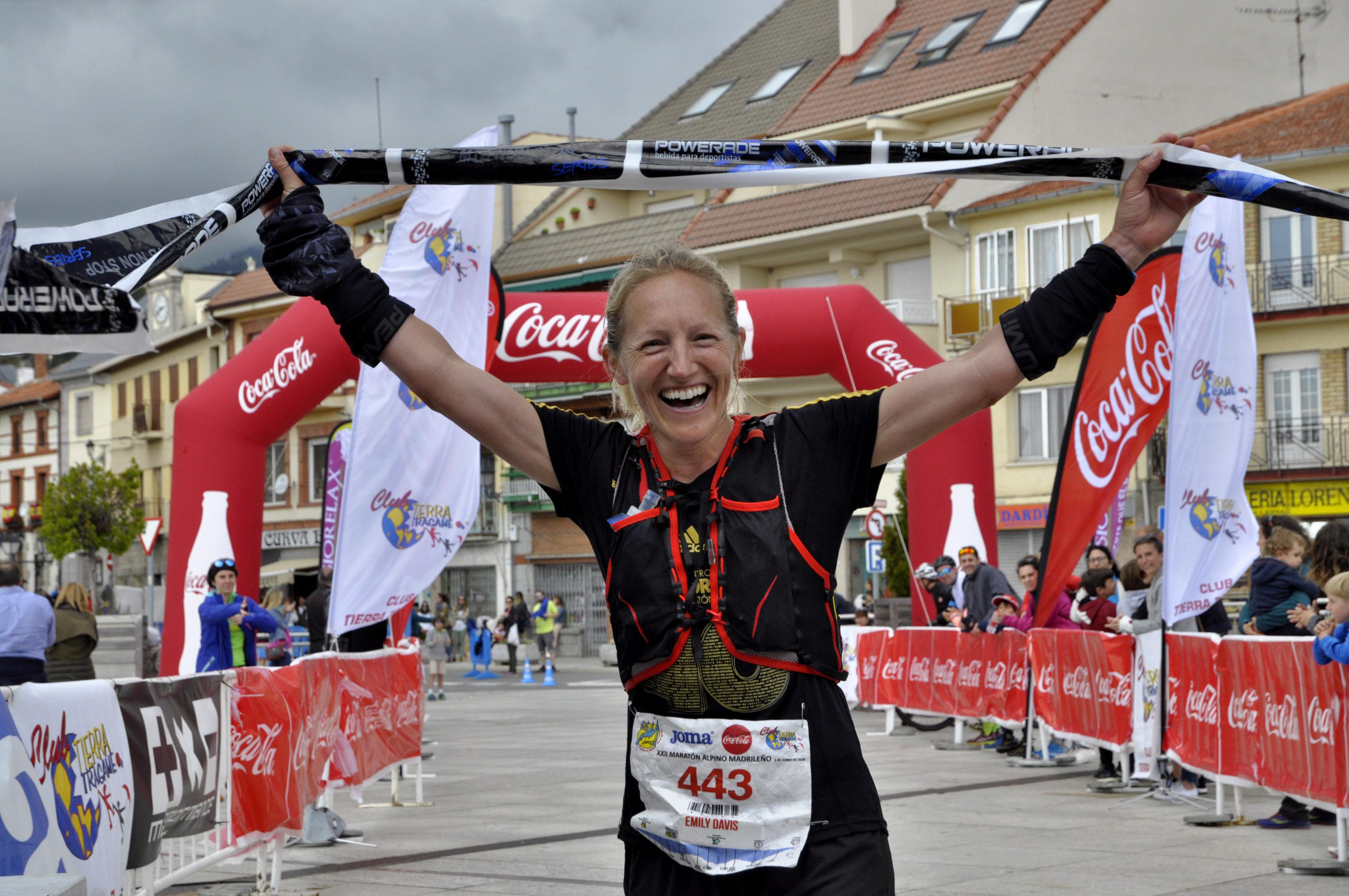 EMILY DAVIS ganadora Maraton alpino madrileño 2018