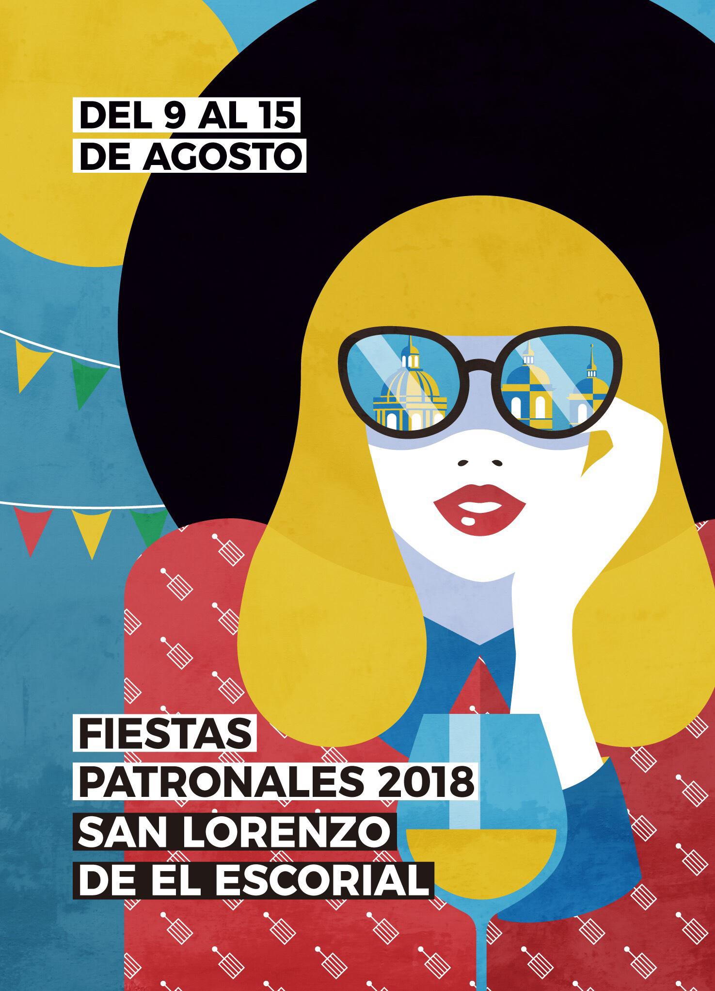 Cartel Fiestas San Lorenzo de El Escorial-2018