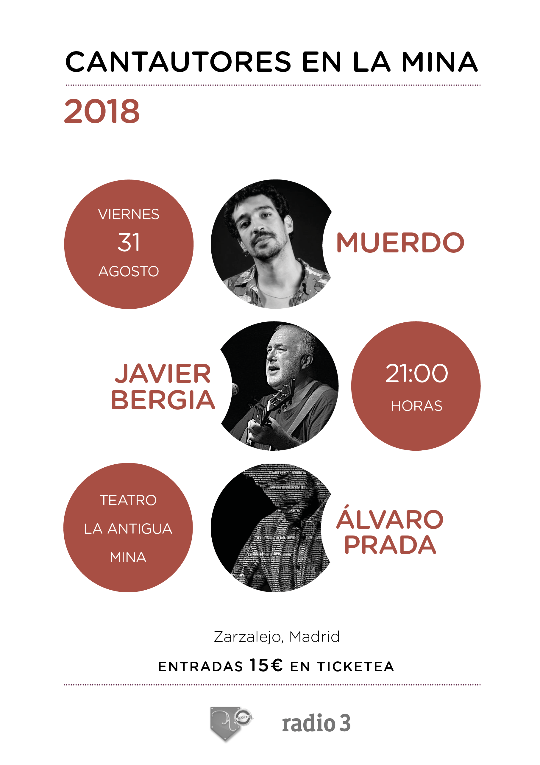 Cantautores en la Mina 2018 - marrón