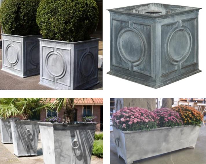 Imágenes de jardineras que figuran en el Anexo II de la ordenanza de terrazas