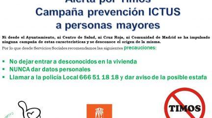 El Ayuntamiento de El Boalo lanza una alerta por timos a mayores en una campaña de ictus