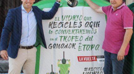 Los vecinos de Becerril de la Sierra se vuelcan con el reciclaje de vidrio durante 'La Vuelta 19'