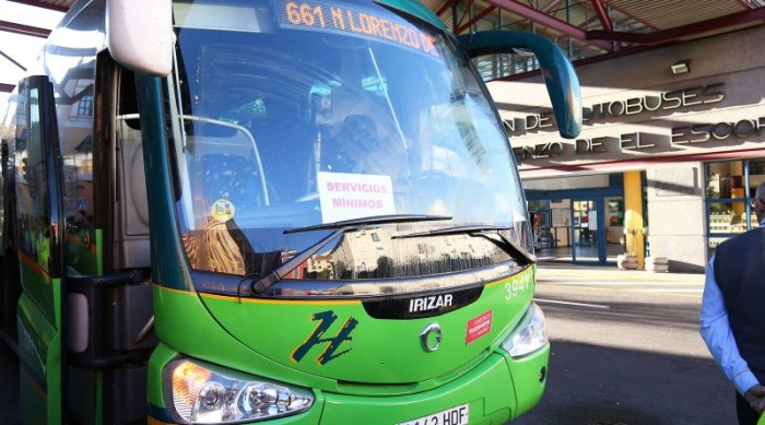 huelga autobuses San Lorenzo de El Escorial