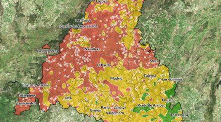Sólo un tercio del suelo de El Boalo presenta concentraciones altas o muy altas de gas radón