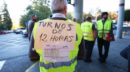 Servicios mínimos del 50% en horas punta de cara a las primeras jornadas de huelga de Irubus-ALSA en San Lorenzo de El Escorial