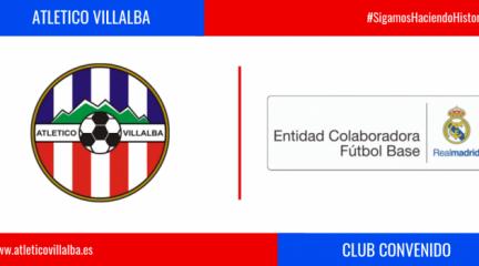 El Atlético Villalba firma un convenio con el Real Madrid para reforzar su colaboración en materia de fútbol base