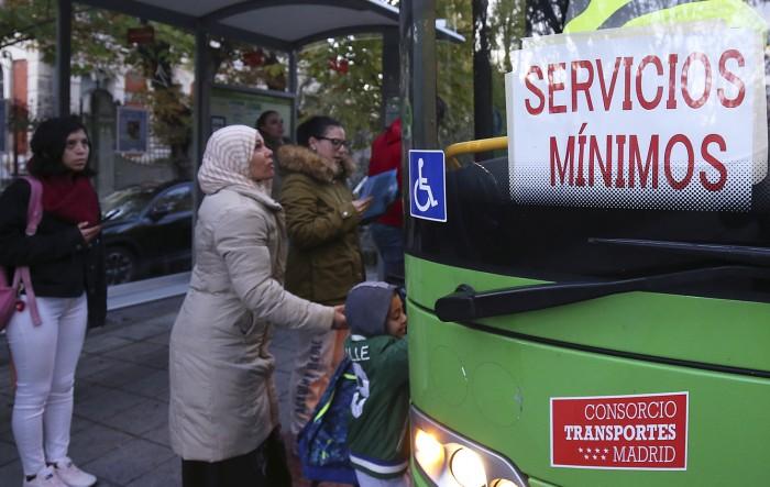 huelga autobuses san lorenzo