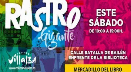 Más de cien puestos de venta se dan cita en el Rastro Gigante de la Sierra en Collado Villalba