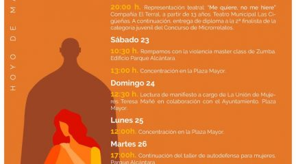 El Ayuntamiento de Hoyo de Manzanares organiza varios actos con motivo del Día Internacional de la Eliminación de la Violencia contra las Mujeres
