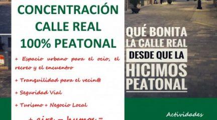 Convocada una concentración en defensa de la peatonalización total de la calle Real de Alpedrete para este domingo