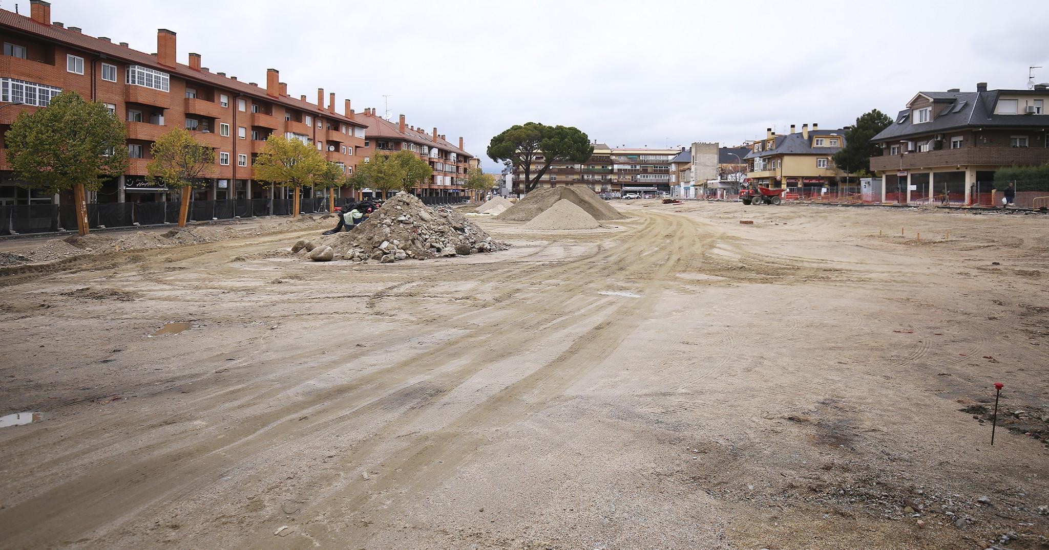 obras plaza belgas collado villalba