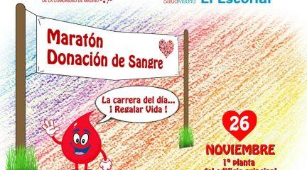 El Hospital El Escorial celebra el martes 26 de noviembre su primer Maratón de Donación de Sangre