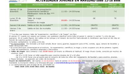 Abierto el plazo de inscripción en Robledo para las actividades juveniles de Navidad