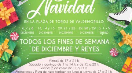 Valdemorillo pone en marcha su primera Feria de Navidad en la plaza de toros cubierta, con pista de hielo, hinchables y artesanía