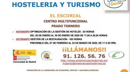 El Ayuntamiento de El Escorial organiza dos cursos gratuitos de gestión de hoteles y restauración