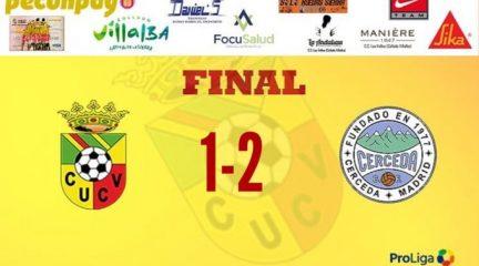 El Cerceda acaba con 17 jornadas de imbatibilidad del Villalba con una victoria histórica en la Ciudad Deportiva (1-2)