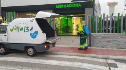 Más de 70 trabajadores del servicio de limpieza viaria y recogida de residuos se centran en la desinfección de Collado Villalba