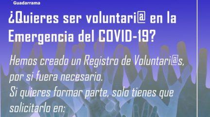 Guadarrama crea un registro de voluntarios ante la emergencia del Covid-19