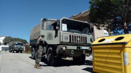 Unidades del Ejército realizan trabajos de desinfección en residencias y centros de mayores de Guadarrama