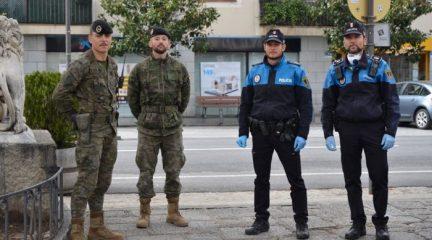 Militares de El Goloso se unen a las labores de vigilancia en las calles de Guadarrama