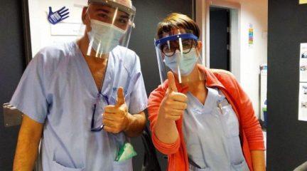 Las mascarillas confeccionadas en Valdemorillo llegan a las urgencias del Hospital Puerta de Hierro