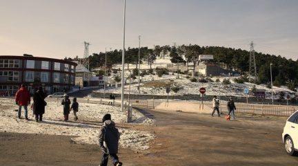 Se registra la primera nevada en Navacerrada desde finales de enero