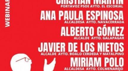"""El Partido Socialista de Collado Villalba organiza un debate online sobre """"La gestión de la Covid-19 en la Sierra Noroeste"""""""