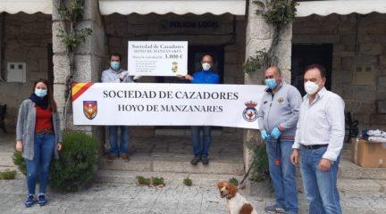 La Sociedad de Cazadores de Hoyo de Manzanares dona 2.000 mascarillas al municipio por un importe de 3.000 euros