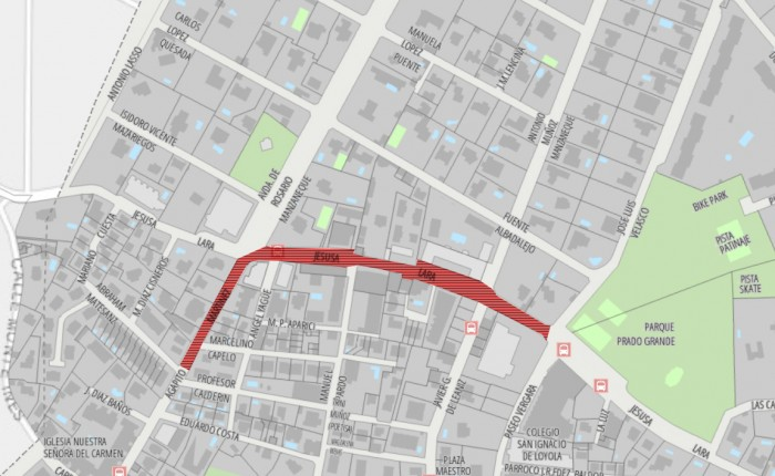mapa peatonalizacion torrelodones
