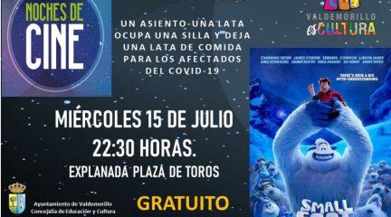 """""""Smallfoot"""", nueva cita este miércoles con el cine de verano en Valdemorillo"""