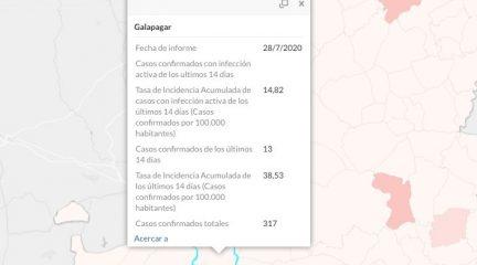 Galapagar confirma 13 casos de coronavirus en los últimos días, el número más alto en la Sierra