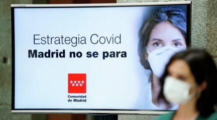 La mascarilla será cien por cien obligatoria en la Comunidad de Madrid y se limitan las reuniones a grupos de diez personas