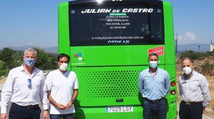 Presentados dos nuevos vehículos que se incorporan al servicio de transporte urbano de Torrelodones