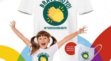 El Ayuntamiento de Hoyo diseña camisetas y mascarillas solidarias para recaudar fondos para Cáritas