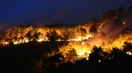 Última hora del incendio de Robledo: moderado optimismo tras una noche de intenso trabajo para estabilizar el fuego
