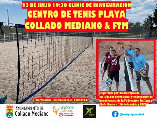 tenis playa collado mediano
