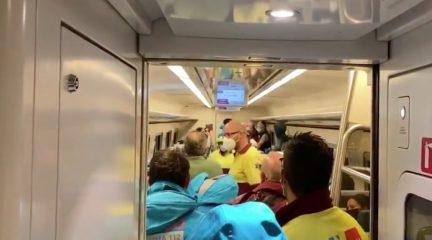 Cortada la línea ferroviaria El Escorial-Ávila por el descarrilamiento de un tren entre Robledo y Zarzalejo como consecuencia de la tormenta