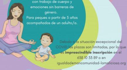 Este sábado, taller de yoga en familia en el polideportivo de Guadarrama