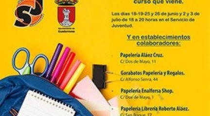 Concluye con éxito la campaña de recogida de material escolar organizada por el SEJUVE de Guadarrama