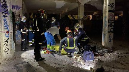 Un joven de 29 años resulta herido grave en el antiguo hospital de La Barranca, en Navacerrada