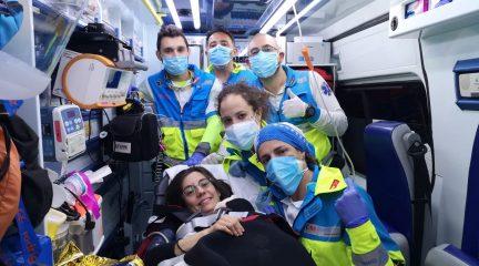 De parto en la A-6: una mujer da a luz en el arcén de la autopista a la altura de Torrelodones